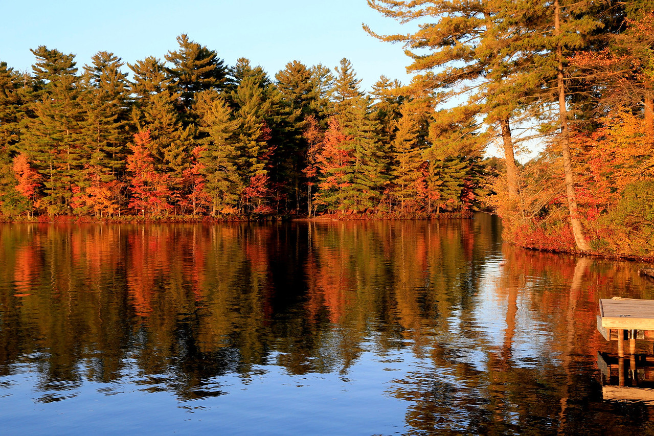 from our dock, White Lake, Adirondack Park NY