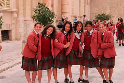 School Girls, Valletta, Malta